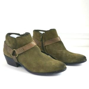 Sam Edelman Phoenix Suede Leather Ankle Booties